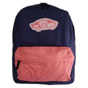 VANS Off The Wall Denim Backpack (Navy / Peach)